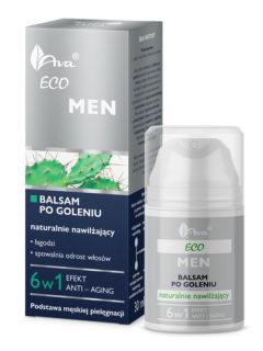 ECO MEN Balsam po goleniu naturalnie nawilżający 6 w 1