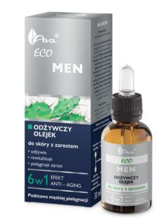 ECO MEN Odżywczy olejek do skóry z zarostem 6 w 1