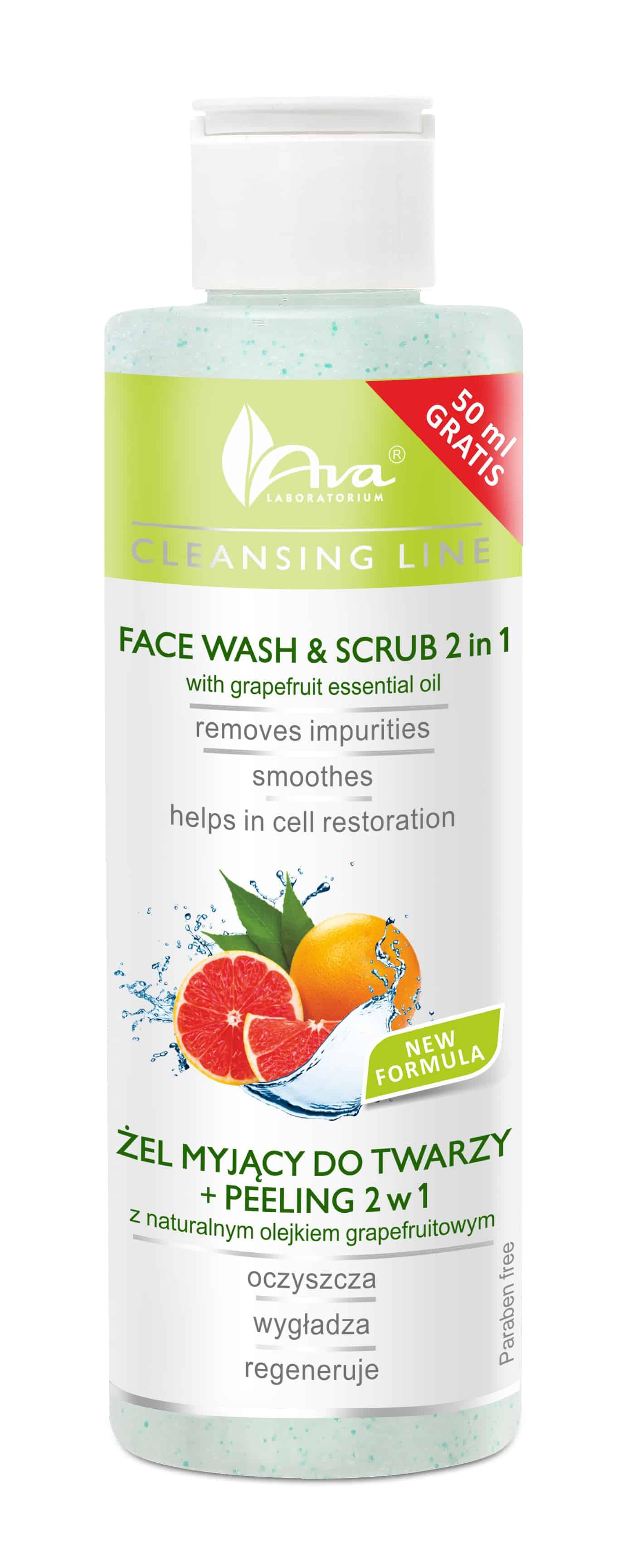 face wash & scrub 2in1